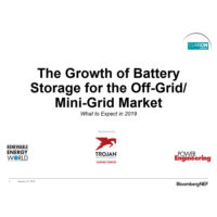 The Growth of Battery Storage for the Off-Grid/Mini-Grid Market: What to Expect in 2019