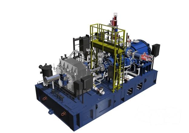 3D model Doosan Skoda steam turbine unit