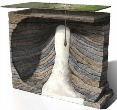 underground salt cavern illustration